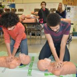 Students performing Adult CPR