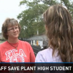Plant High School Staff saves Student after Collapse on Race Track