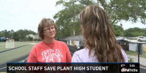 Plant High School student is saved with CPR